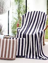 Style frais Serviette de bain,Rayures Qualité supérieure Pur Coton Serviette