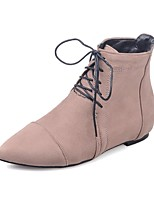 cheap -Women's Shoes Leatherette Fall Winter Fashion Boots Boots Pointed Toe Booties/Ankle Boots Buckle For Casual Dress Red Beige Black