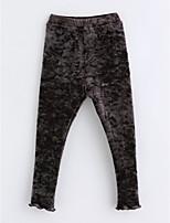 cheap -Girls' Solid Pants,Cotton Winter Dark Gray