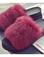 Women's Shoes Flocking Spring Fall Comfort Slippers & Flip-Flops For Casual Burgundy Dark Blue