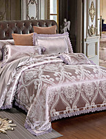 cheap -Duvet Cover Sets Luxury 4 Piece Modal Tencel Jacquard Modal Tencel 1pc Duvet Cover 2pcs Shams 1pc Flat Sheet