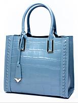 cheap -Women Bags Cowhide Tote Zipper for Casual All Season Blue Black Red Gray
