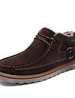economico -Da uomo Scarpe Scamosciato Finta pelle Inverno Autunno Comoda Sneakers Footing per Casual Blu scuro Marrone