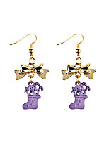 Women's Drop Earrings Sweet Hiphop Resin Alloy Geometric Jewelry For Daily Christmas