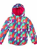Girls' Ski Jacket Windproof Wearable Skiing Snow Walking Snow Sports Polyester