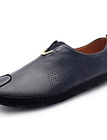 Men's Shoes PU Fall Winter Comfort Loafers & Slip-Ons For Casual Office & Career Blue Orange Black