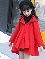 Girls' Solid Jacket & Coat Blue Brown Red
