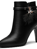 Women's Shoes Synthetic Fall Winter Fashion Boots Bootie Boots Pointed Toe Booties/Ankle Boots For Party & Evening Dress Black