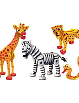 Building Blocks Toys Snake Zebra Animals DIY Kids 4 Pieces