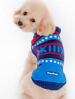 Cane Maglioni Abbigliamento per cani Casual Rigato Verde Blu Costume Per animali domestici