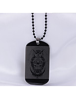 Men's Pendant Necklaces Owl Stainless Steel Hip-Hop Personalized Jewelry For Daily Casual