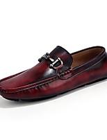 Для мужчин обувь Дерматин Весна Весна, осень, зима, лето Удобная обувь Мокасины и Свитер Пайетки Назначение Повседневные Черный