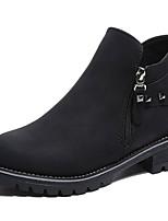 abordables -Mujer Zapatos Goma Invierno Botas de Combate Botas Dedo redondo Para Negro Gris