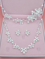 Women's Headwear Necklace Synthetic Diamond Imitation Pearl Wedding Party Birthday Engagement Valentine Alloy Crown Leaf