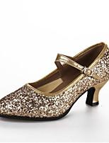 """cheap -Women's Modern Paillette Heel Outdoor Paillette Customized Heel Gold 2"""" - 2 3/4"""" Customizable"""