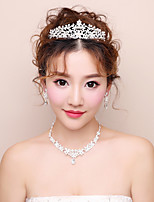 Women's Cubic Zirconia Floral Zircon Earrings Hair Jewelry Necklace For Wedding Party Wedding Gifts