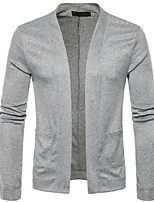cheap -Men's Daily Regular Cardigan,Solid Stand Long Sleeves Others Winter Fall Medium strenchy
