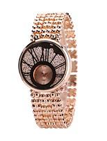 Femme Montre Habillée Montre Bracelet Chinois Quartz Imitation de diamant Alliage Bande Luxe Décontracté Argent Doré Or Rose