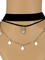 Women's Choker Necklaces Layered Necklaces Geometric Cloth Alloy Classic Vintage Casual Sexy Fashion Jewelry For Bar Club