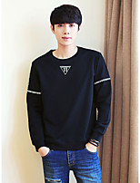 Men's Daily Sweatshirt Letter Cotton