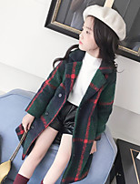 Girls' Solid Down & Cotton Padded,Cotton Long Sleeves Green
