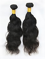 cheap -Remy Malaysian Natural Color Hair Weaves Natural Wave Lovely Hair Extensions 2pcs Black