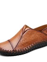 Homme Chaussures Vrai cuir Similicuir Printemps Automne Confort Mocassins et Chaussons+D6148 Marche pour Décontracté Noir Jaune Brun Foncé