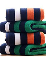 Style frais Serviette de bain,Rayures Qualité supérieure Polyester/Coton Serviette