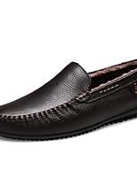 Homme Chaussures Cuir Nappa Cuir Printemps Automne Confort Mocassins et Chaussons+D6148 Pour Décontracté Noir Marron