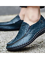 Men's Shoes Cowhide Spring Fall Comfort Loafers & Slip-Ons For Casual Blue Yellow Black