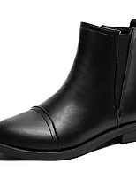 cheap -Women's Shoes PU Winter Comfort Fashion Boots Boots Pointed Toe Booties/Ankle Boots For Casual Black