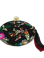 Femme Sacs Polyester Sac de soirée Broderie Gland pour Mariage Soirée / Fête Toute Saison Noir Rouge
