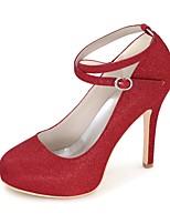 Feminino Sapatos Glitter Primavera Verão Plataforma Básica Sapatos De Casamento Salto Agulha Ponta Redonda para Casamento Festas & Noite