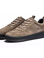 Men's Shoes Pigskin Winter Light Soles Sneakers For Casual Khaki Gray Black