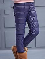 Pantalons Fille Sortie Couleur Pleine Coton Hiver