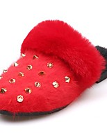 Women's Shoes Rubber Winter Comfort Slippers & Flip-Flops Round Toe For Outdoor Red Coffee Gray Black