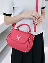 Women Bags PU Tote Pockets for Outdoor All Season White Black Red Blushing Pink