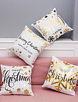 4 pcs Velvet Natural/Organic Polyester Pillow Case Pillow Cover,Patterned Textured Letter Art Deco/Retro Traditional/Classic