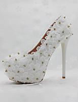 economico -Da donna Scarpe PU (Poliuretano) Primavera Autunno Comoda Innovativo scarpe da sposa Punta tonda Lustrini Perle Per Matrimonio Serata e