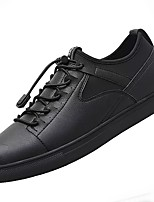 cheap -Men's Shoes Synthetic Microfiber PU PU Leatherette Spring Fall Comfort Sneakers For Casual Brown Silver Black