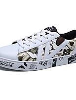 Недорогие -Для мужчин обувь Полиуретан Весна Осень Светодиодные подошвы Кеды Животные принты Назначение Повседневные Белый Черный Красный