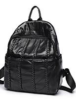 cheap -Women Bags PU Backpack Zipper for Casual Outdoor All Season Black