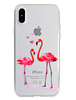 abordables -Coque Pour Apple iPhone X iPhone 8 Plus Motif Coque Flamant Flexible TPU pour iPhone X iPhone 8 Plus iPhone 8 iPhone 7 Plus iPhone 7