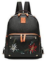 cheap -Women Bags PU Backpack Zipper for Casual All Season Brown Black