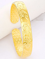 cheap -Women's Bangles Cuff Bracelet Asian Lovely Fashion Gift Gold Plated Jewelry For Wedding Daily