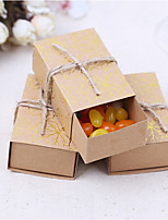 Favor Holder-Cuboid Card Paper Satin Favor Boxes Wedding Favors