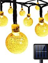 luci solari della stringa 8 modalità 23ft 30leds luci della stringa della sfera di cristallo per il partito festa di estate del giardino