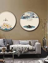 cheap -Floral/Botanical Landscape Illustration Wall Art,PVC Material With Frame For Home Decoration Frame Art Living Room Kitchen Dining Room