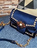 Damen Taschen Winter Samt Unterarmtasche Knöpfe für Blau Schwarz Grau Dunkelgrün Wein