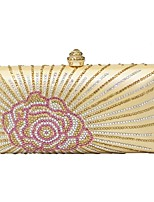 Women Bags Polyester Evening Bag Crystal Detailing for Wedding Event/Party All Season Gold Orange Red Purple Fuchsia